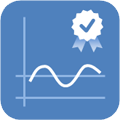 Data quality controlled delayed mode icon